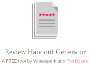 A Picture of Whitespark's review generator