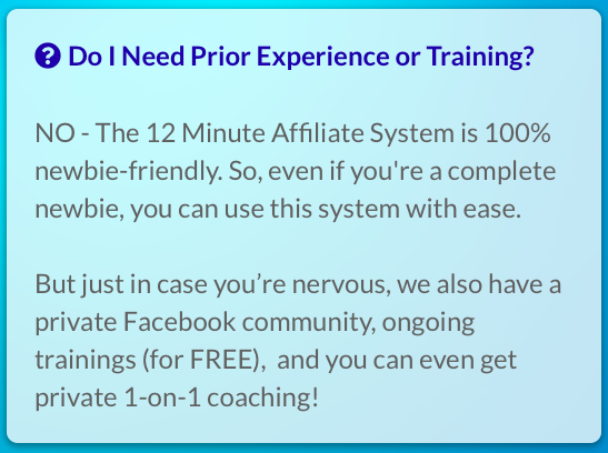 12 minute affiliate coaching
