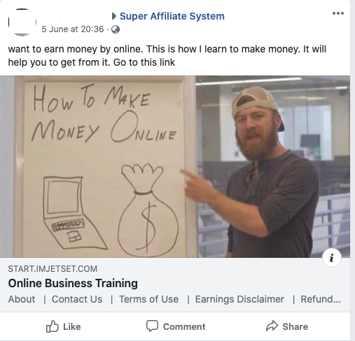 Super Affiliate System Facebook Community Example 2