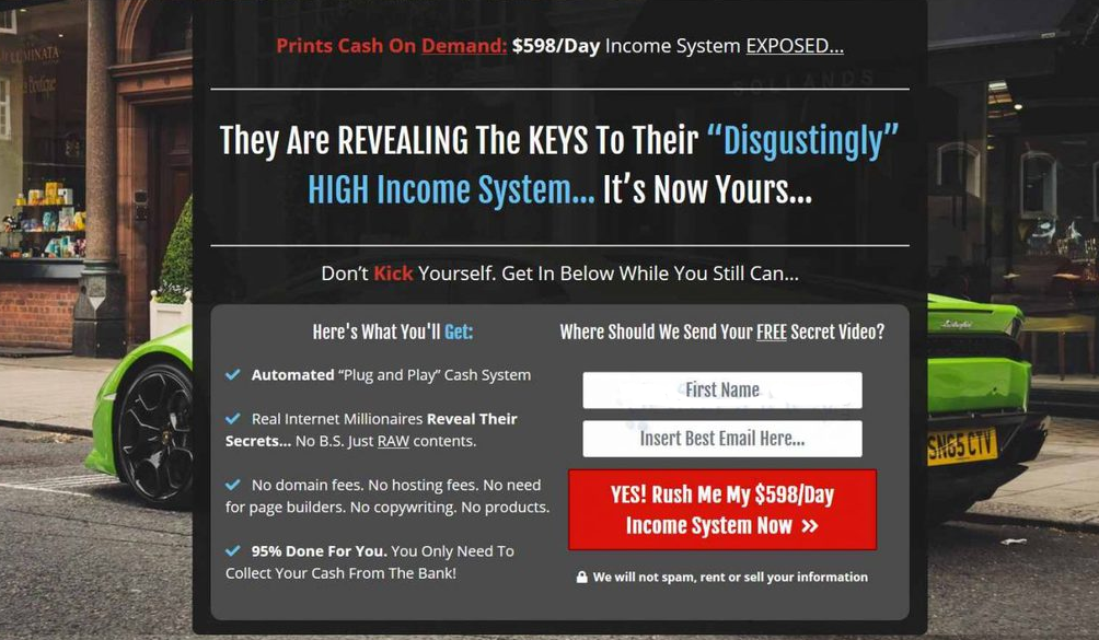 Perpetual Income 365 Landing Page
